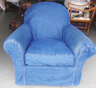 Denim Rocking Chair Slipcover