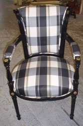 Before: Padded, Striped Sitting Chair