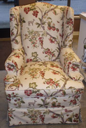 Flower Flourish Reupholstered Chair