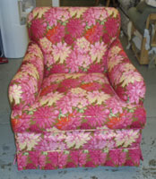 After: A Bright Reupholstered Chair