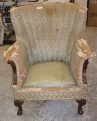 Before: A Diapidated Sitting Chair
