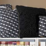 Custom Black and White Pillow Set