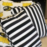 Custom Black & Yellow Pillow Set