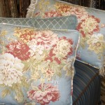 Blue Floral Custom Pillow Set