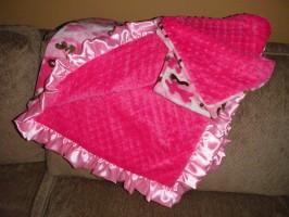 Pink Camo Custom Baby Blanket
