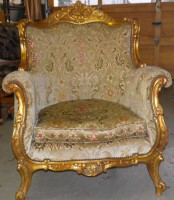 Golden Chair Reupholstered