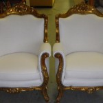 Plush White Matching Upholstered Chairs