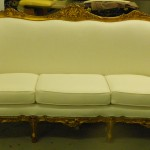 Plush White Upholstered Couch