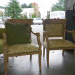 Coordinating green sitting chairs