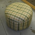 Custom pincushion ottoman