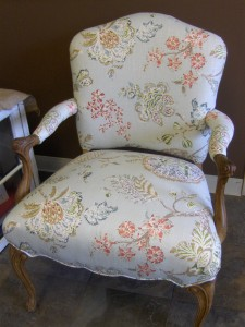 Airy floral patterned chair