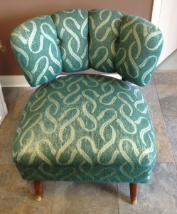 Modern armless upholstered chair