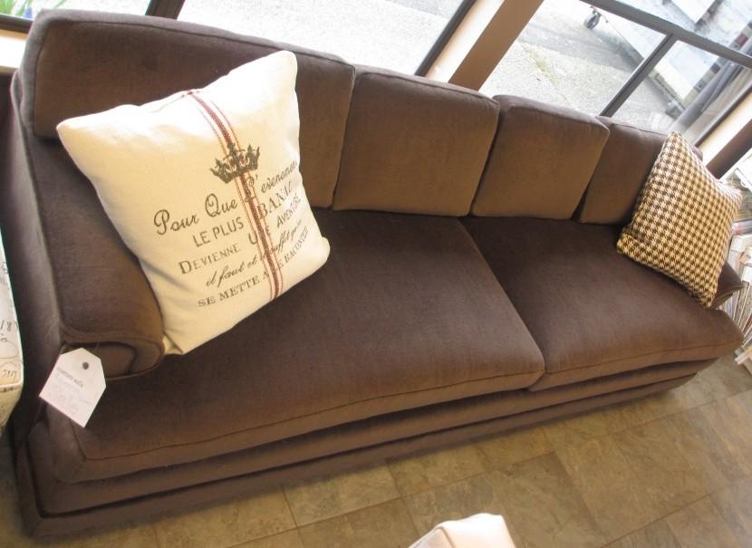 8.5' wool velvet sofa