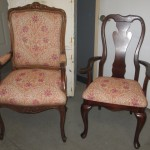 coordinating armchair and sidechair