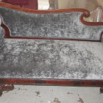 reupholstered victorian chaise lounge